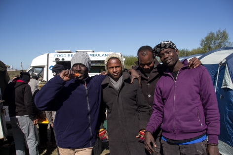 Some of the friends we met and fed at the camp.