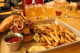 The Coma Burger at the Braindead Brewery, Deep Ellum.